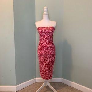 Diane Von Furstenberg Strapless Stretchy Dress
